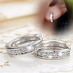 Jewelry - 925 Silver Small CZ Hoop Earrings Nickel Free